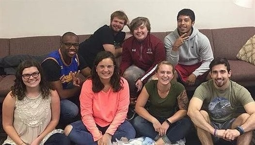 Members of the Methodist Student Network at the University of South Carolina. (Photo courtesy of the Council of Bishops.)