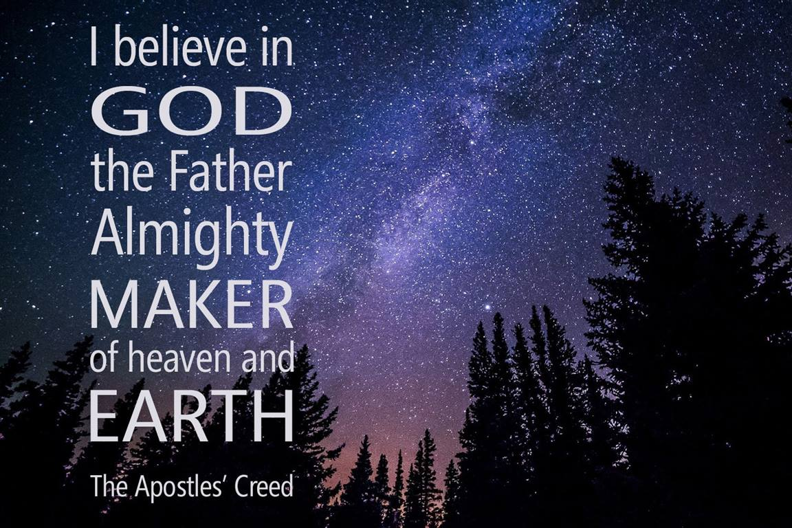 A passage from the Apostles' Creed affirms God as Creator. Photo by Free-Photo, courtesy of Pixabay.