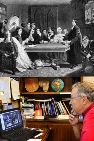 The small groups that started the Methodist movement are still an important part of United Methodism today! Top image used with permission from the Methodist Collection of Drew University. Lower photo by Kathleen Barry, United Methodist Communications.