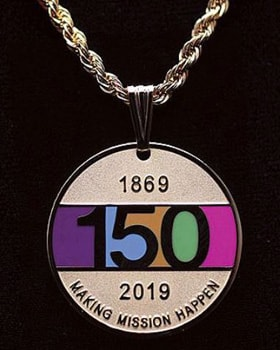 Medallion marks 150 years of UMW's mission. Photo courtesy of United Methodist Women.