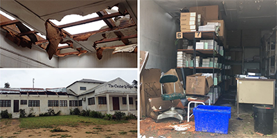Chicuque Rural Hospital sustained extensive damage from Cyclone Dineo in 2016, both from wind damage and severe flooding. Facilities, roads, vehicles, storage and equipment were lost in the storm.