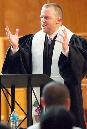 The Rev. Daniel Dennison pastors students at the University of Oklahoma. Photo courtesy of the Rev. Daniel Dennison.