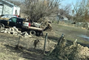 Photos show the aftermath of the flood damage in Columbus and Bellwood, Nebraska.