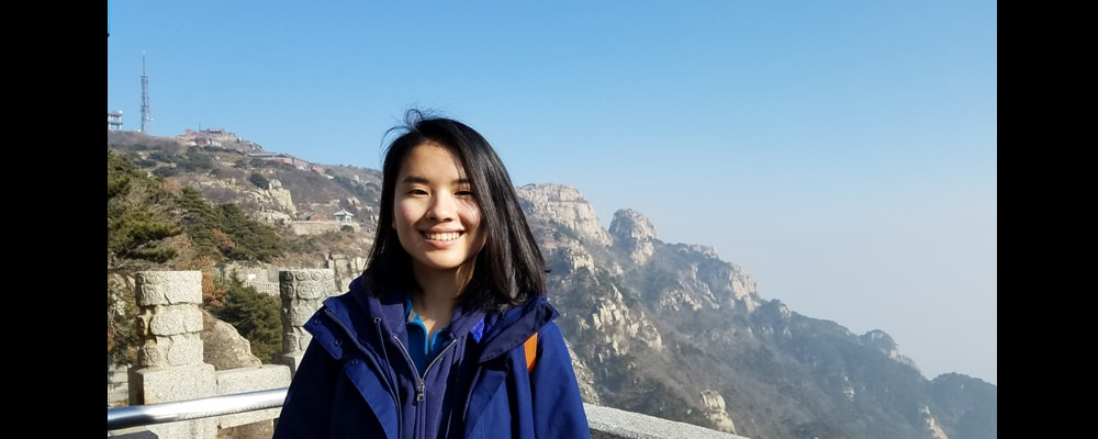 Anna Ling O'Donoghue poses on her vacation in China.