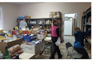 Volunteers of the the Rupert Food Pantry sorts and shelves food distributed on Mondayw and Wednesdays.