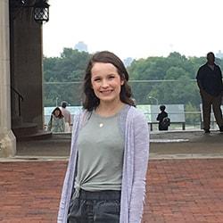Emma Storer poses on the Washington University campus. Courtesy photo.