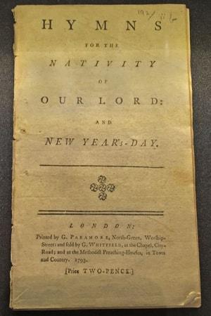 """현재 우리가 부르는 찬송가 """"오랫동안 기다리던""""의 가사는 찰스 웨슬리가 1700년대에 출판한 것과 거의 비슷하다. 사진 제공: 조 이오비노, 연합감리교회 공보부."""