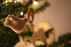 The dove, prevalent in Christmas decorations, is a symbol of the Holy Spirit and of peace. Photo by Steven Kyle Adair, United Methodist Communications.
