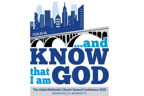 The 2020 General Conference logo color version. Designed by United Methodist Communications.
