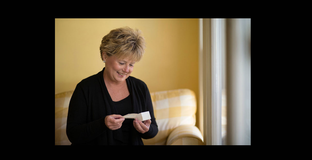"""Ellen McNish says the best gift she ever received was a cotton ball spritzed with her mother's favorite perfume and a note from her saying """"Lest you forget me."""""""