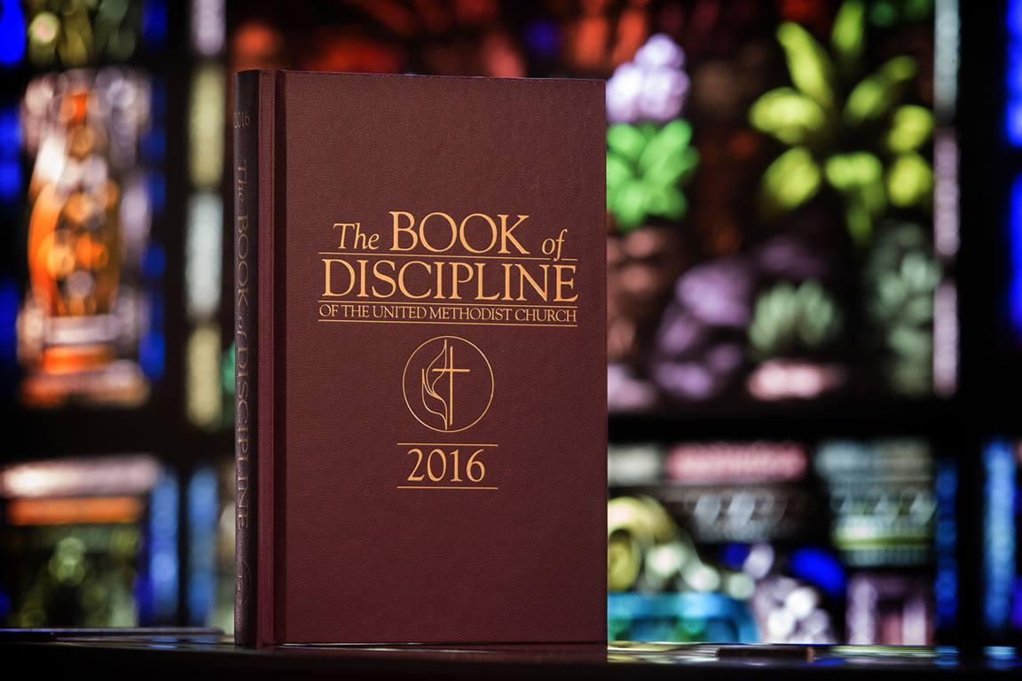 The United Methodist Book of Discipline serves as a guide for members and churches. Photo by Mike DuBose, United Methodist Communications.
