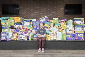 Kayla Smith hopes to have a storage warehouse for Diaper Angels, part of the National Diaper Bank, a network of 300 community-based diaper banks. Photo courtesy of the Smith family.