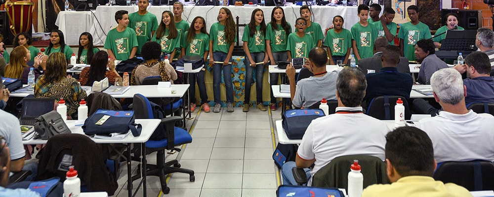 Children chorus at the Shade and Fresh Water conference. Courtesy photo.