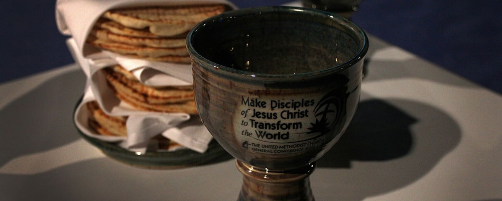 Communion Cup and Bread.