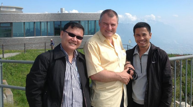 The Rev. Stefan Pfister mentors young Cambodian pastors. Photo courtesy of the Rev. Stefan Pfister.