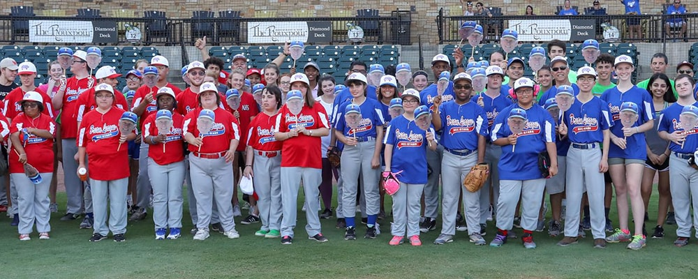 Group photo of Dream League participants and coaches. Courtesy photo.