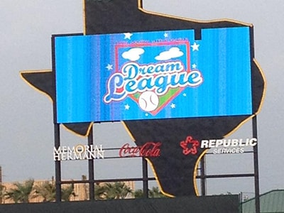 Dream League sign Signage at field. Courtesy photo.