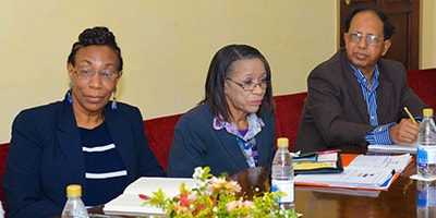 Claflin University faculty sitting in a meeting. Courtesy photo.