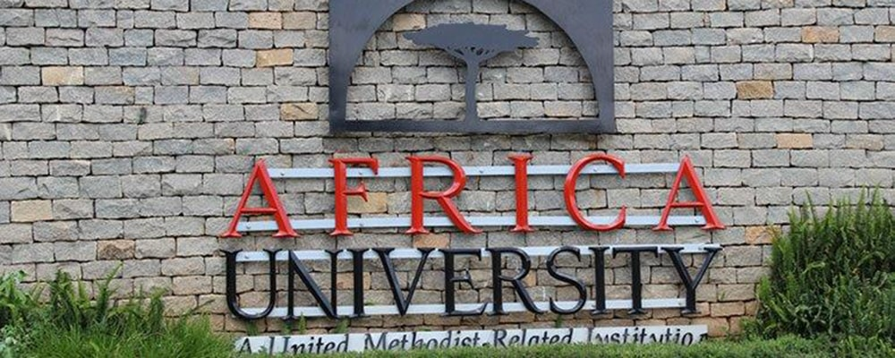 Africa University marquee in Africa. Courtesy Photo.