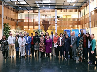 Participants of the consortium organized by Arigatou International at the Ecumenical Centre in Geneva. Photo: Ivars Kupcis/WCC