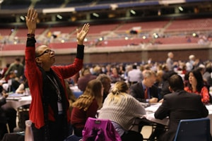 General Conference 2019 began with a day of prayer, and all United Methodists are encouraged to continue to pray in the days that follow. Photo by Kathleen Barry, United Methodist Communications.