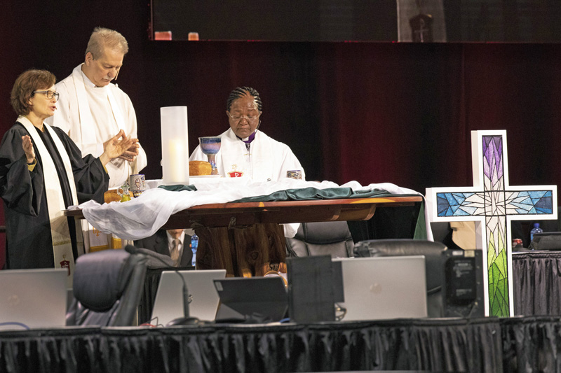 United Methodists from around the world worshipped together at General Conference 2019. Photo by Kathleen Barry, United Methodist Communications.