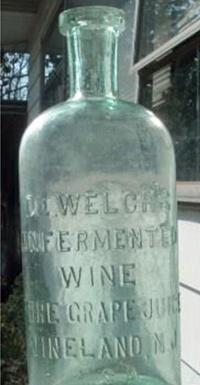 "Welch's Grape Juice was originally labeled, ""Dr. Welch's Unfermented Wine, Pure Grape Juice, Vineland, NJ."" Photo courtesy of Adrienne Possenti."