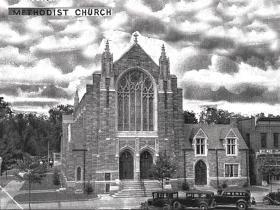 First United Methodist Church of Vineland, NJ, formerly Vineland Methodist Episcopal Church, is the birthplace of Welch's Grape Juice. Photo courtesy of Adrienne Possenti.
