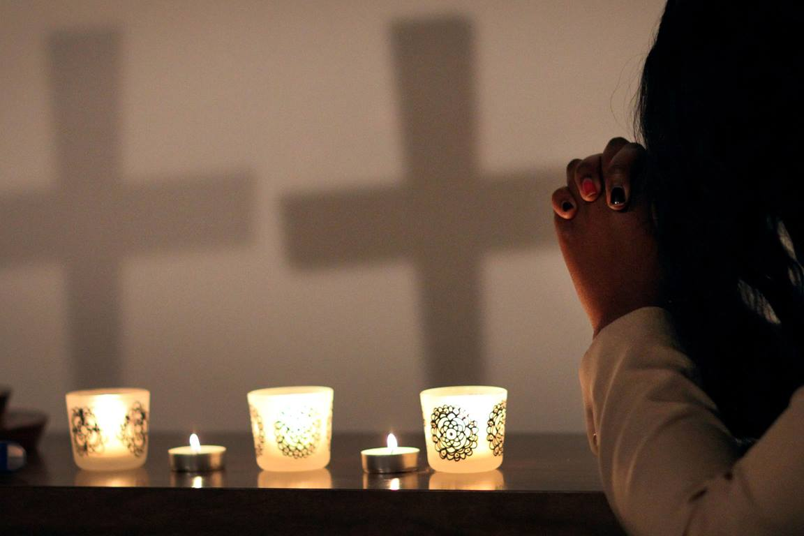Christians understand prayer as spiritual communication with God. Meditation can be a specific practice that leads us into prayer or it can be a separate spiritual experience. Photo illustration by Kathleen Barry, United Methodist Communications.