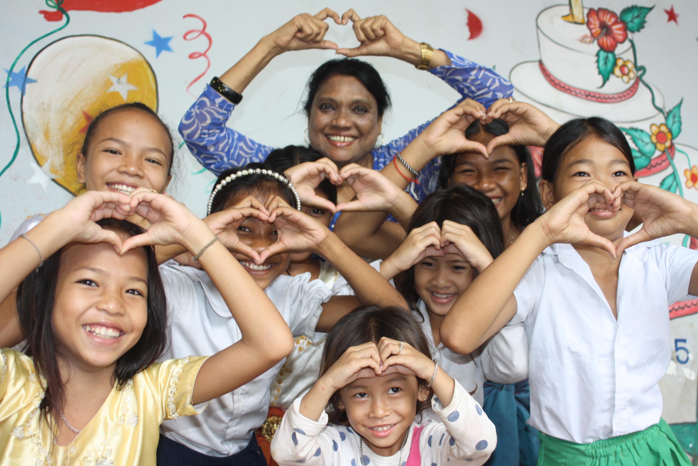 Clara Biswas serves the children of Phnom Penh, Cambodia. Photo by United Methodist Global Ministries.