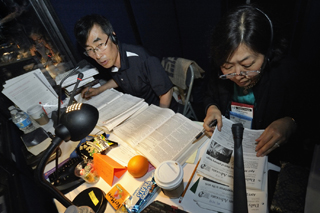 Translators are some of the many behind-the-scenes people working hard during General Conference. File photo by Paul Jeffrey, United Methodist Communications.