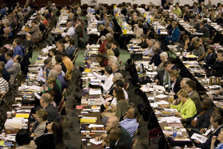 The legislative work accomplished at General Conference impacts life in the local church. File photo of the 2008 General Conference by Mike DuBose, United Methodist Communications.