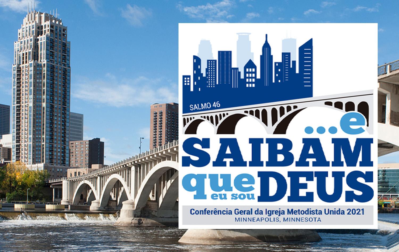 A Comissão decidiu continuar com a sede no Centro de Convenções de Minneapolis para a reunião do próximo ano. Fotocomposição em português UMCOM.