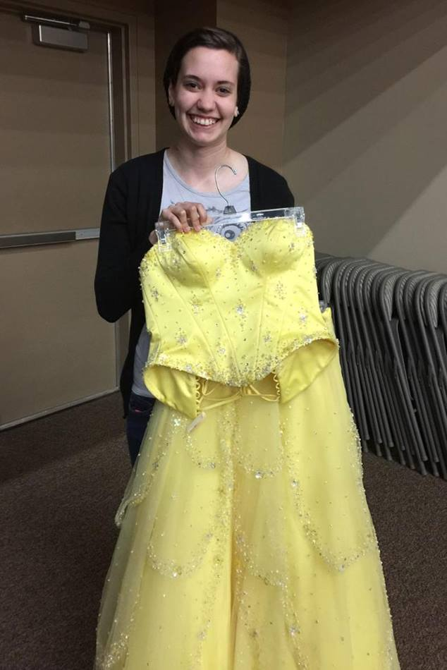 Jordan Paul poses with her prom dress. Photo courtesy of Prom Boutique.