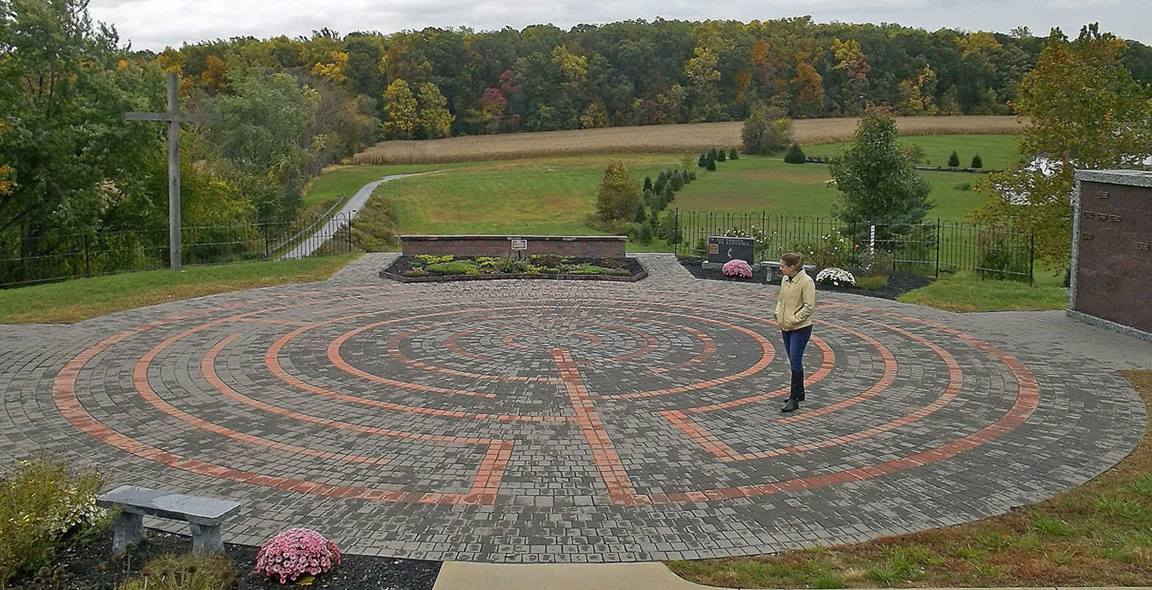 Walking a labyrinth, like this one at Hopewell United Methodist Church, Downington, Penn., is a time to focus and be centered on God's call for discipleship, says Pat Rankin. Photo by MTSOfan, courtesy of Creative Commons.
