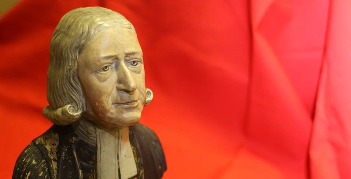 The Enoch Wood bust of the Rev. John Wesley (1703-1791). Courtesy of the General Commission on Archives and History of the United Methodist Church. Photo by Kathleen Barry, United Methodist Communications.