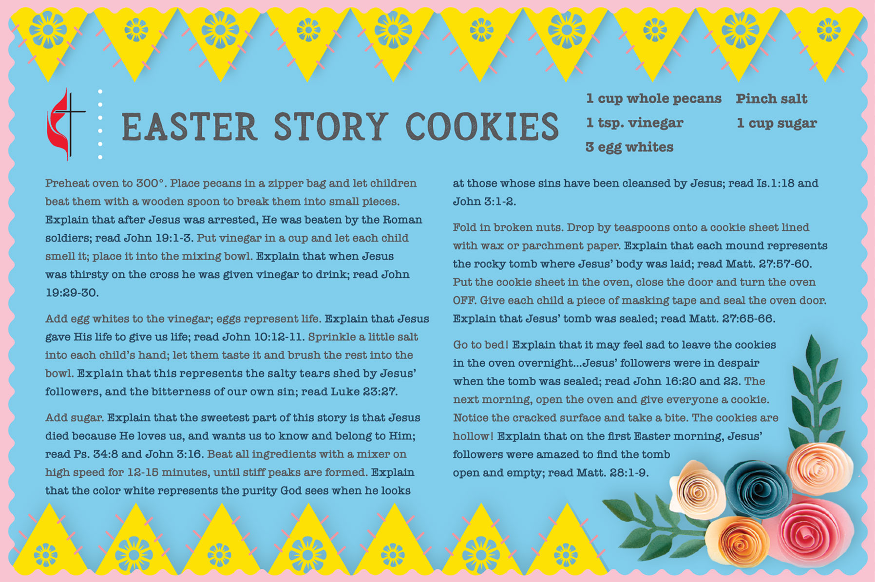The Easter cookie recipe is a good children's activity to tell the story of the Resurrection. Illustration by Sara Schork for United Methodist Communications