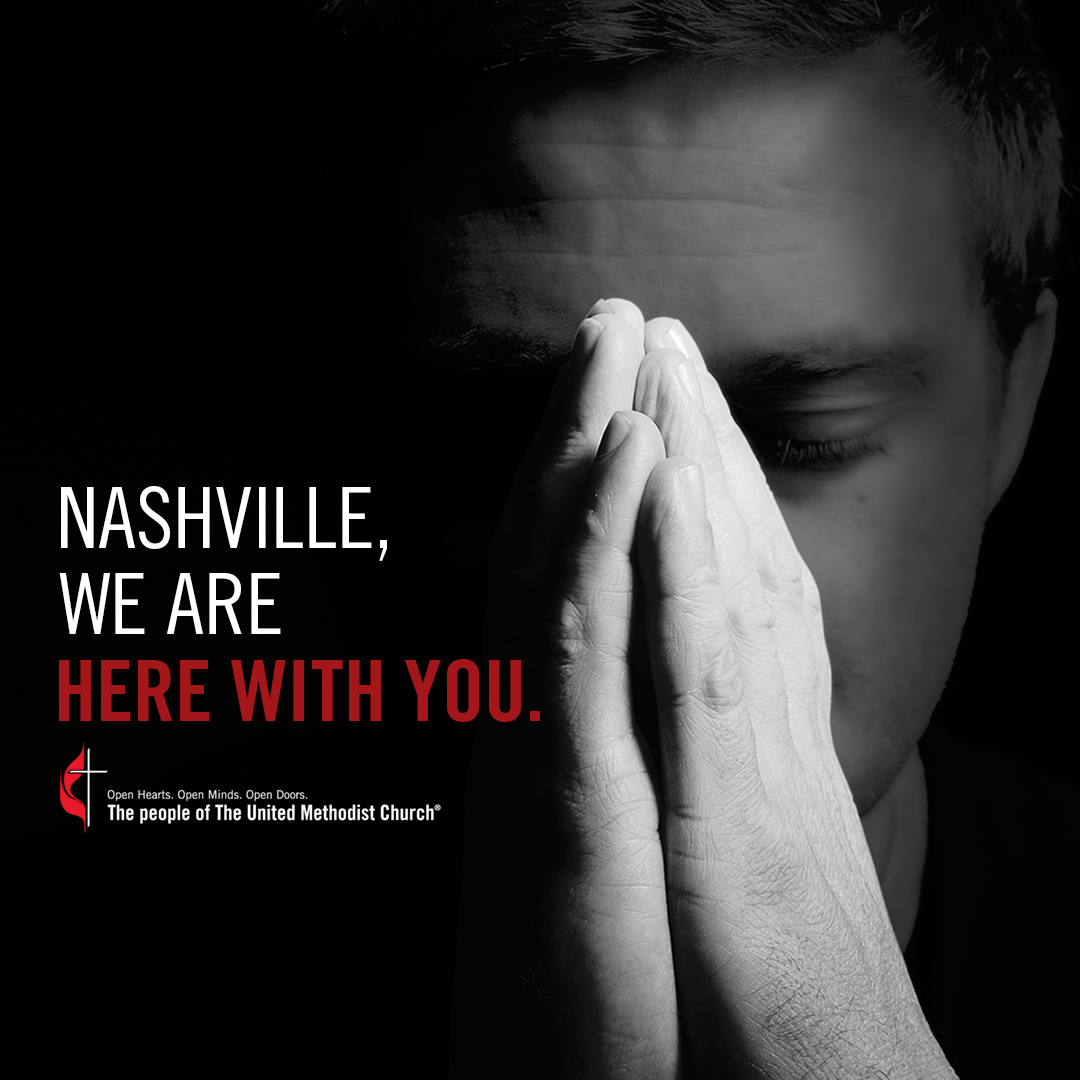Nashville, we are with you social media graphic