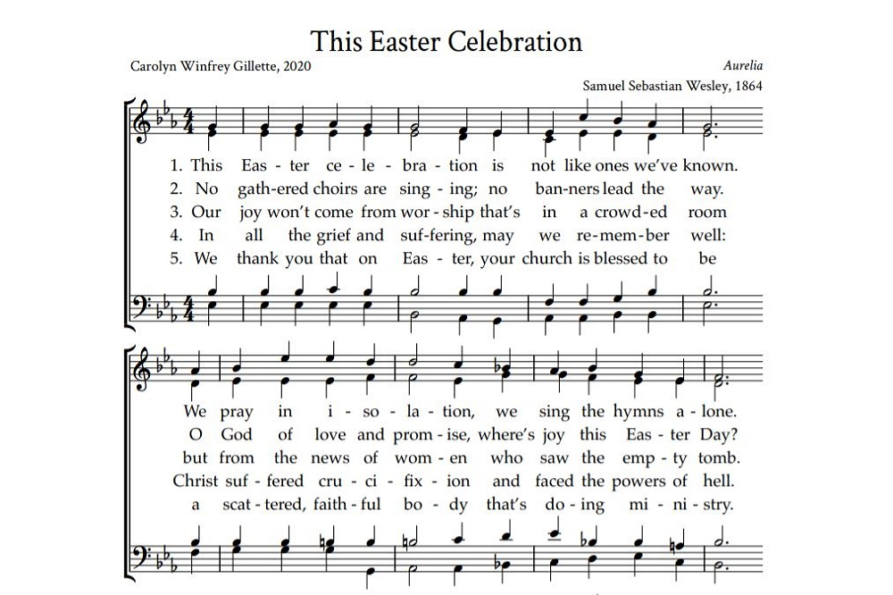 """New hymn titled """"This Easter Celebration"""" was written specifically for Easter 2020 when the world is dealing with the coronavirus pandemic."""