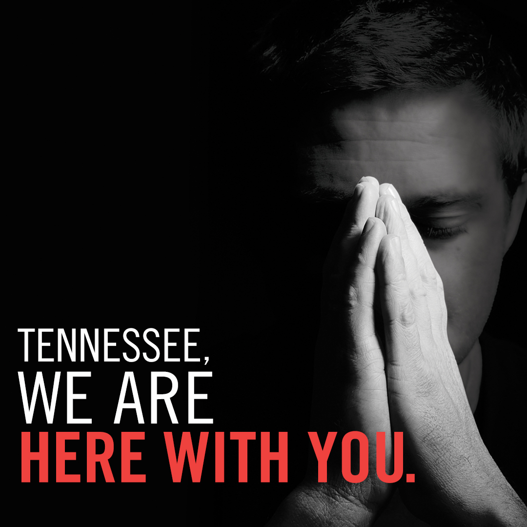Tennessee, we are with you social media graphic plain