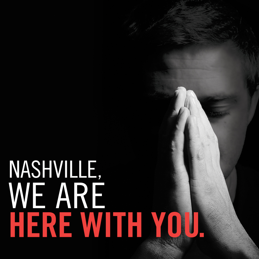 Nashville, we are with you social media graphic plain