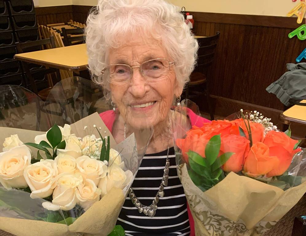 Lucille Ellson on her 102nd birthday on December 30, 2019. Photo by Jane Pickle.