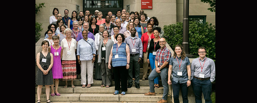 Pictured above are conference attendees outside the BU School of Theology.
