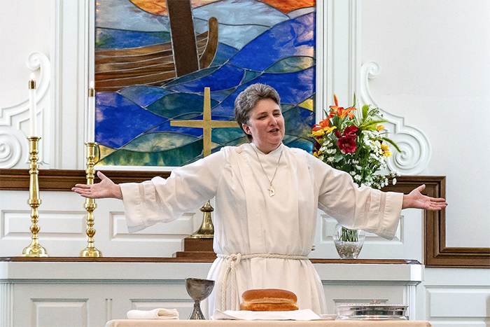 The Rev. Leslee Fritz serves Albion First United Methodist Church, entering ordained ministry following a career of public service.