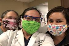 Healthcare workers at Swedish Hospital in Chicago have received masks from La Trinidad's United Methodist Church's sewing group. Photo by Valerie Mendoza.