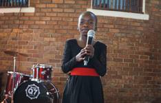 Ten-year-old Britney Sadete performs at Cranborne United Methodist Church in Harare, Zimbabwe, during The UMC's Got Talent, an annual Zimbabwe Episcopal Area talent show, on July 28, 2019. Britney, who took first place in the under-12 category and second place overall, recently released her first album. Photo by Kudzai Chingwe, UM News.