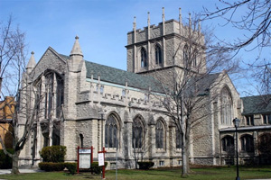 A view of Central Park United Methodist Church in Buffalo N.Y., built 1921-23. Photo courtesy of Central Park United Methodist Church website.