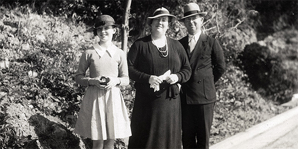 Walter Brooks Foley and Mary Rosengrant Foley, missionaries with the Methodist Board of Foreign Missions, are pictured here with daughter Frances Helen Foley in Hong Kong in 1937.