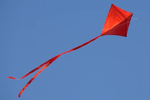 Flying a red kite is one way to commemorate Pentecost. File photo by Mike DuBose, United Methodist Communications.