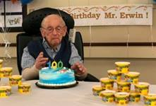 United Methodist minister, Rev. Henry Erwin, the 17th Methodist minister in a family that traces their faith heritage all the way back to Francis Asbury, turns 100.